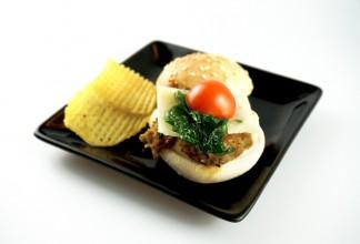 Mini hamburguesa de verduras